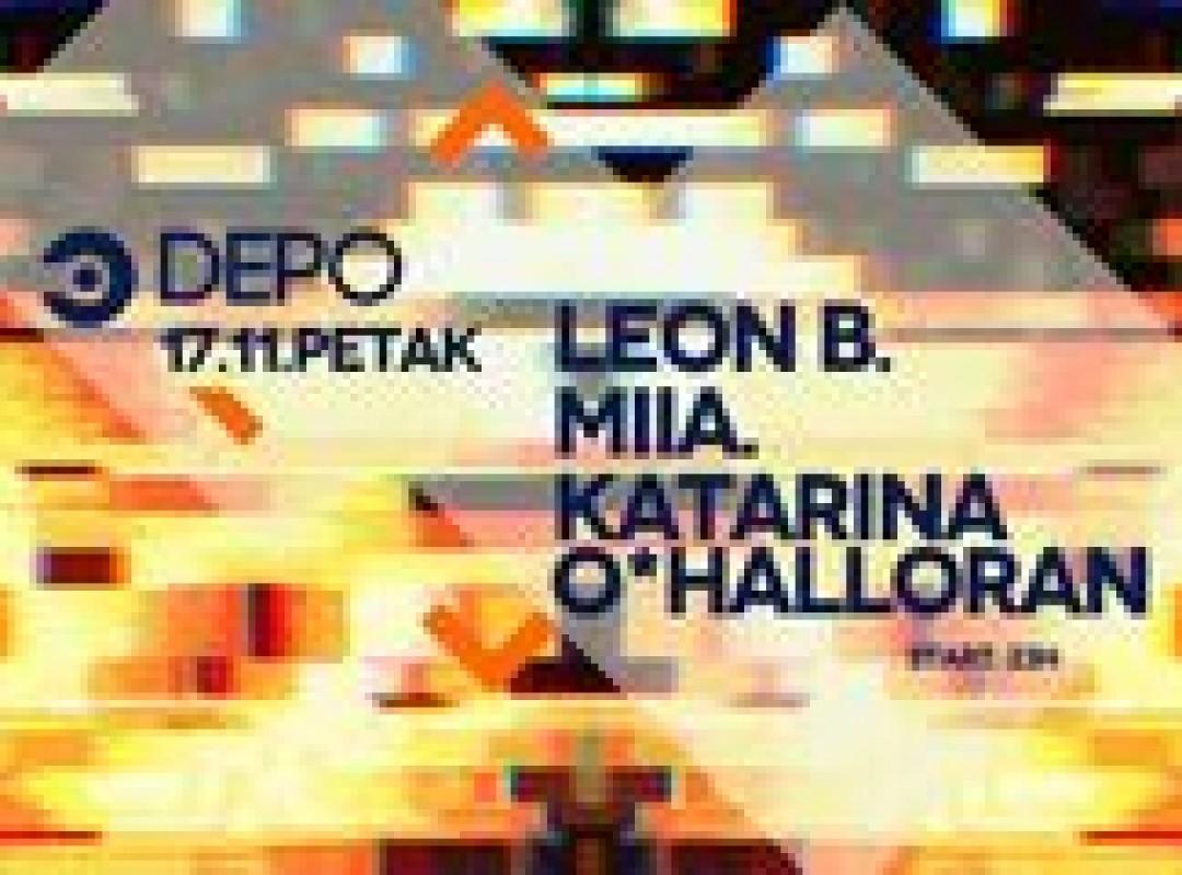 Elektron w/ Leon B / MIIA. / Katarina O*Halloran at DEPOklub