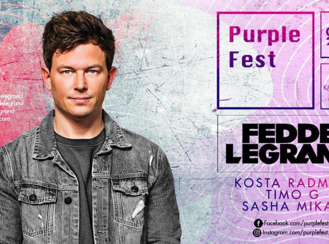 Fedde Le Grand, Kosta Radman, Timo G, Sasha Mikac | PurpleFest
